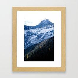 The Rockies at Avalanche Lake Framed Art Print