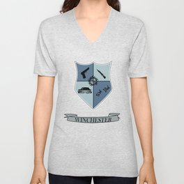 Winchester Coat of Arms Unisex V-Neck