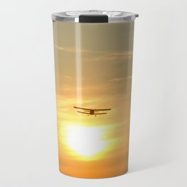 Flight At Sunset Travel Mug