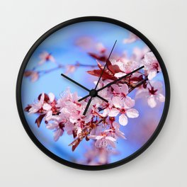 Cherry plum Wall Clock