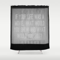movie posters Shower Curtains featuring Movie by Madison Daniels