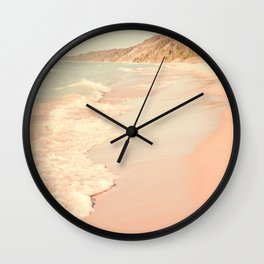 Her Mind Wandered Back and Forth With the Waves Wall Clock