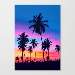 PALM-TREE SUNSHINE Canvas Print