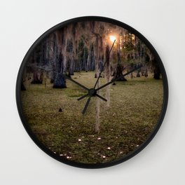 Witch's Hair at Sunrise on the Swamp Wall Clock