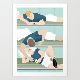 Bunk Buddies for Handsome Devil Press Art Print