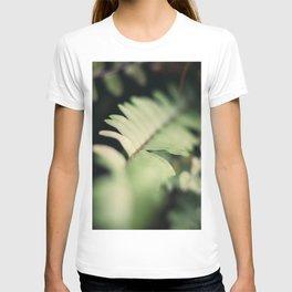 Blurred Close Up Of Fern Leaf T-shirt