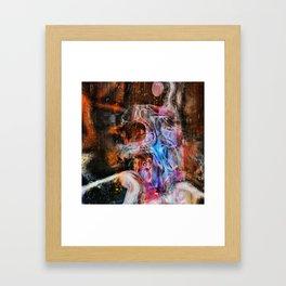 Mon cerveau Framed Art Print