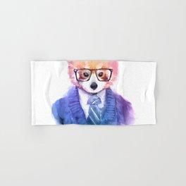 Cute fashion hipster animals pets red panda Hand & Bath Towel