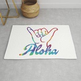 Shaka Hands Aloha, colorful sticker Rug