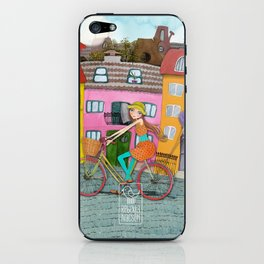 Bicycle and Balloons iPhone Skin