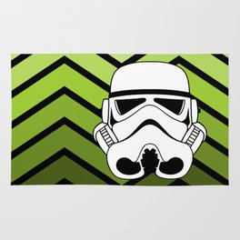 Stormtrooper on Pea Green Ombre Rug