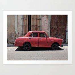 Cuban Red Car Art Print