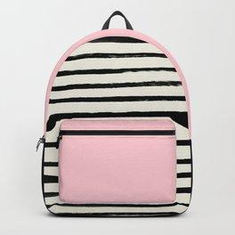 Millennial Pink x Stripes Backpack