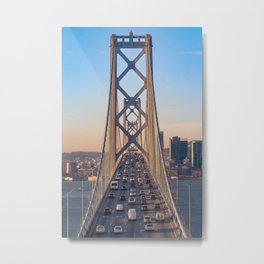 Commuters of the Bay Metal Print