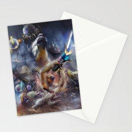 Laser Sloth Fighting Evil Llama King Stationery Cards