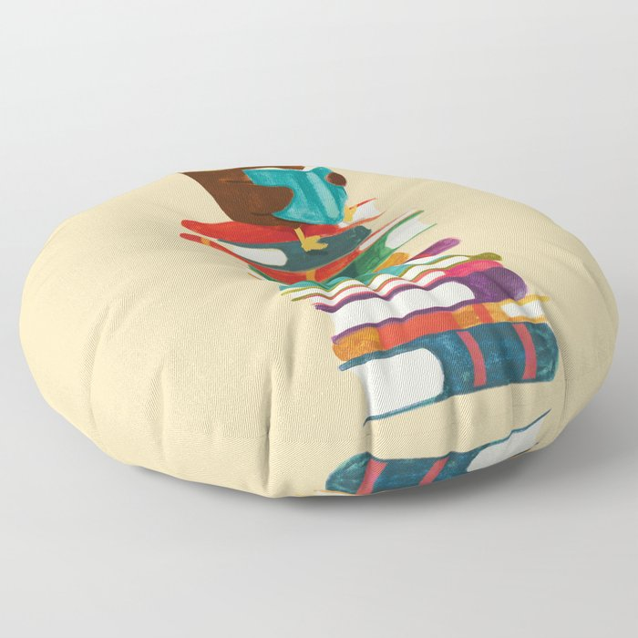 Owl Reading Rainbow Floor Pillow