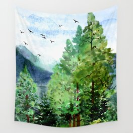 Mountain Forest Wall Tapestry