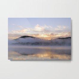 Misty Morning on the Lake Metal Print
