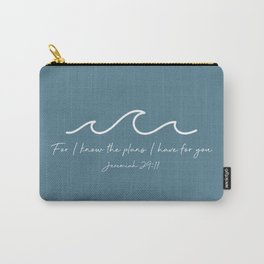 Jeremiah 29:11 Waves, White Carry-All Pouch