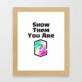 Be Legendary Framed Art Print