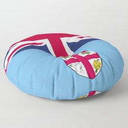 Fiji flag emblem Floor Pillow