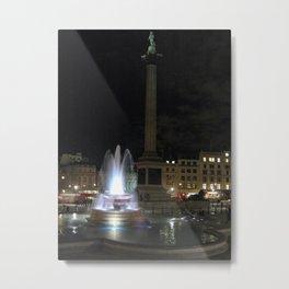 Trafalgar Square At Night  Metal Print