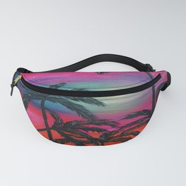 Sunset in Miami beach Fanny Pack