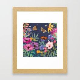 Anemones & Cornflowers Framed Art Print
