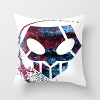 bleach Throw Pillows featuring Bleach by Bradley Bailey