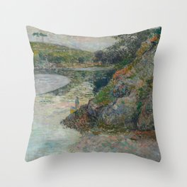 The Banks of River Aven Throw Pillow