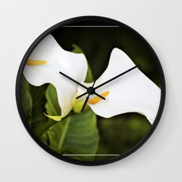 Love is the only flower Wall Clock