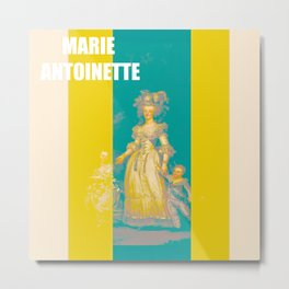 MARIE soft stripes edition Metal Print