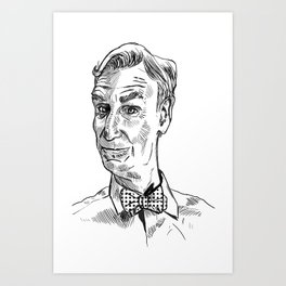Bill Nye Portrait Art Print