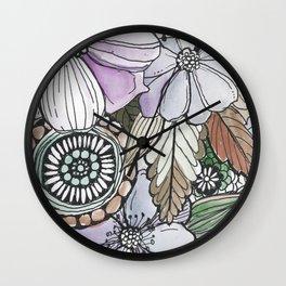 Boho Pop - Earth Tones Wall Clock