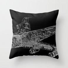 Boing 747 Throw Pillow