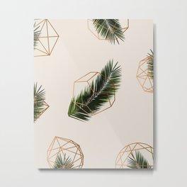 Palm + Geometry #society6 #decor #buyart Metal Print