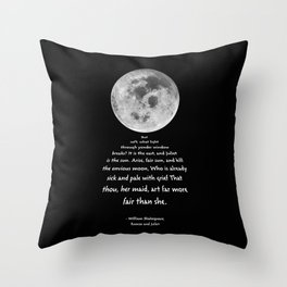 Moon Bridge Shakespeare Throw Pillow