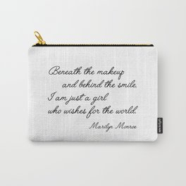 Marilyn quote Carry-All Pouch