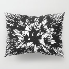 Make A Wish Dandelion Vector In Black Pillow Sham