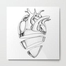 Heart of Chrome Metal Print