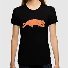 Paws off my pizza! - Perfect drawing for cat and pizza lovers alike T-shirt