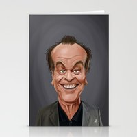 celebrity Stationery Cards featuring Celebrity Sunday ~ Jack Nicholson by rob art | illustration
