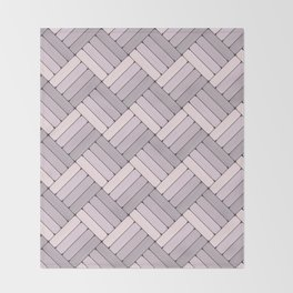 Pattern Play in Pink and Gray Throw Blanket