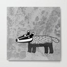 Badger Looking Cool Metal Print