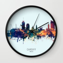 Cardiff Wales Skyline Wall Clock