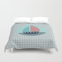 sailing Duvet Covers featuring Sailing by Mr and Mrs Quirynen