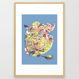 Spongebob Squarepants Summer Framed Art Print