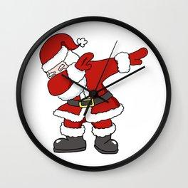 Dabbing Santa Claus Christmas Holiday Design Wall Clock