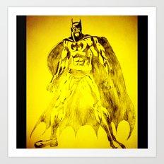 Yellow Bat Art Print