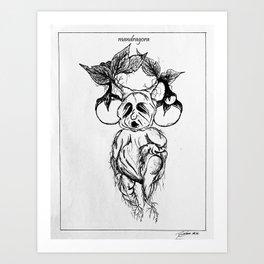 mandragora. Art Print